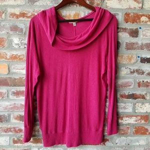 Cowl Neck pink Top very soft & cozy modal